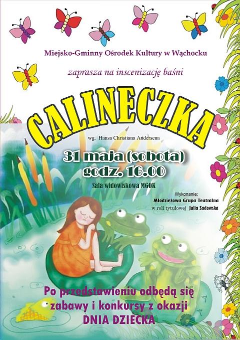 Plakat Przedstawienia Calineczka